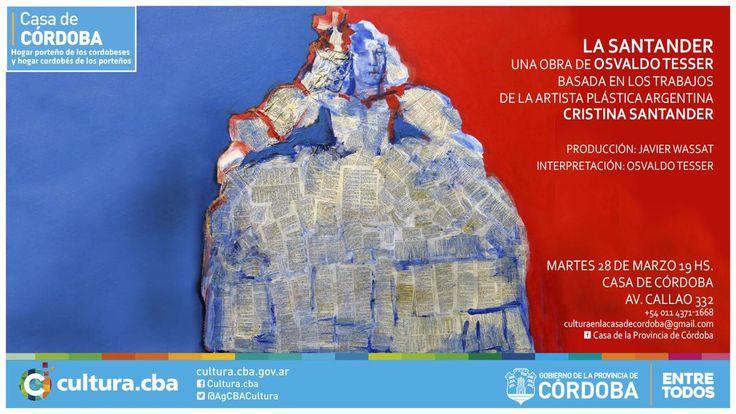 Osvaldo Tesser en LA SANTANDER, un recorrido por su obra, en Casa de Córdoba