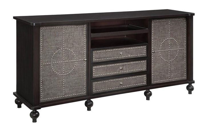 Nailed It TV Cabinet, transitional tv cabinet, modern media chest