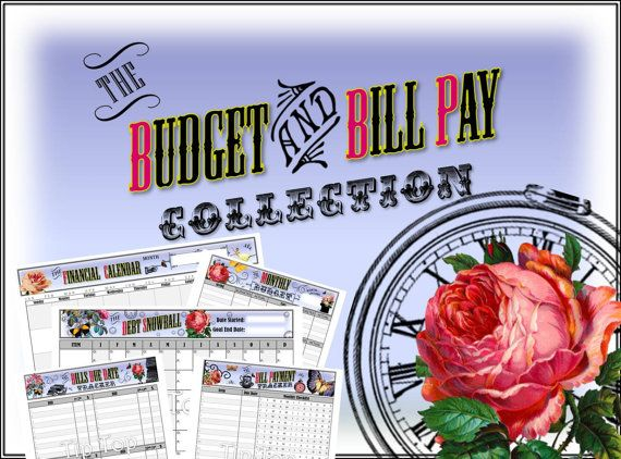 Financial Budget and Bill Pay Kit - Vintage Style Organizing - pay template