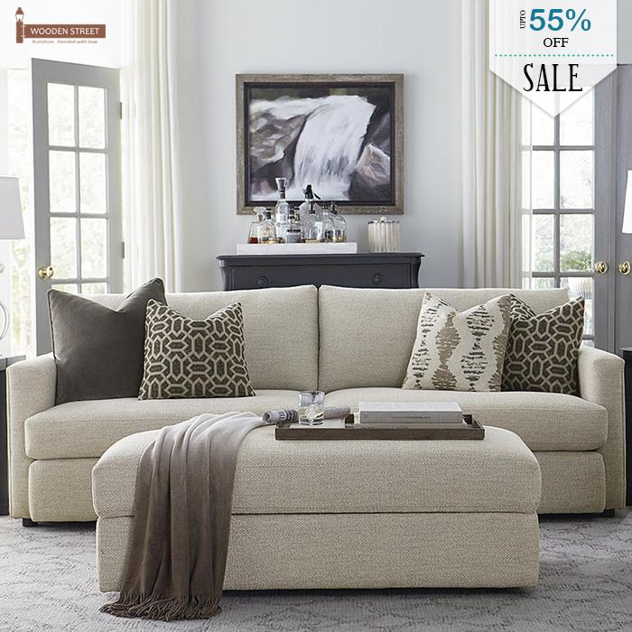 Leather Sectional Sofa If you ure going for a traditional living room look use warm neutrals and patterned throw pillows Get this sofa during the Bassett Memorial Day Sale at