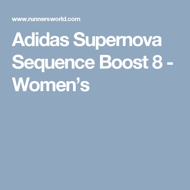 Adidas Supernova Sequence Boost 8 - Women's
