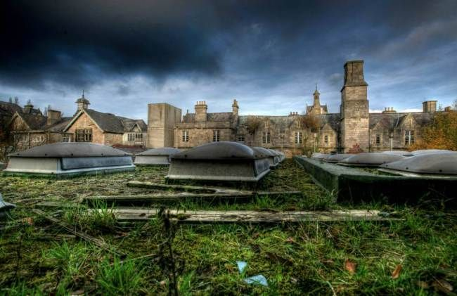 The grounds of  North Wales County Pauper Lunatic Asylum at North Wales Hospital (Picture: Mark Davis/Guzelian)