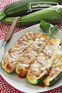 awesome Zucchini Pizza Boats | Food Hero - Healthy Recipes that are Fast, Fun and Inexpensive
