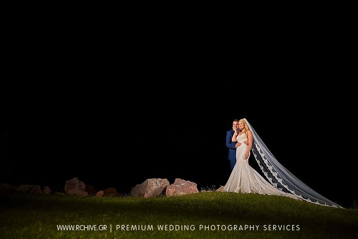 Night fell on us during this wedding portrait, but we always love the challenge.