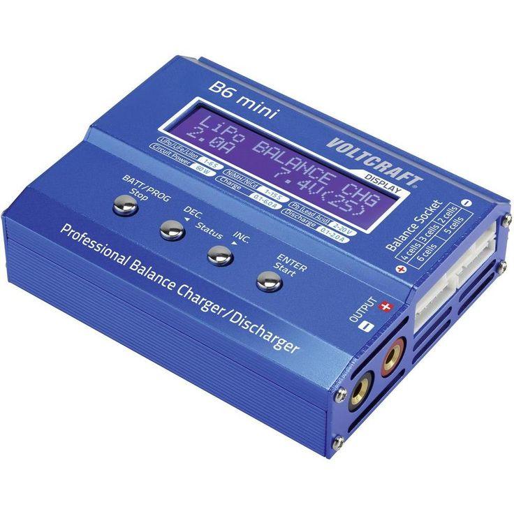Multifunktionsladdare VOLTCRAFT B6 mini . NiMH, NiCd, LiPo, Bly, LiFe, LiIon 12 V 6 A