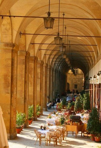 Loggia in Arezzo, Italy.  we had lunch here in this beautiful spot.