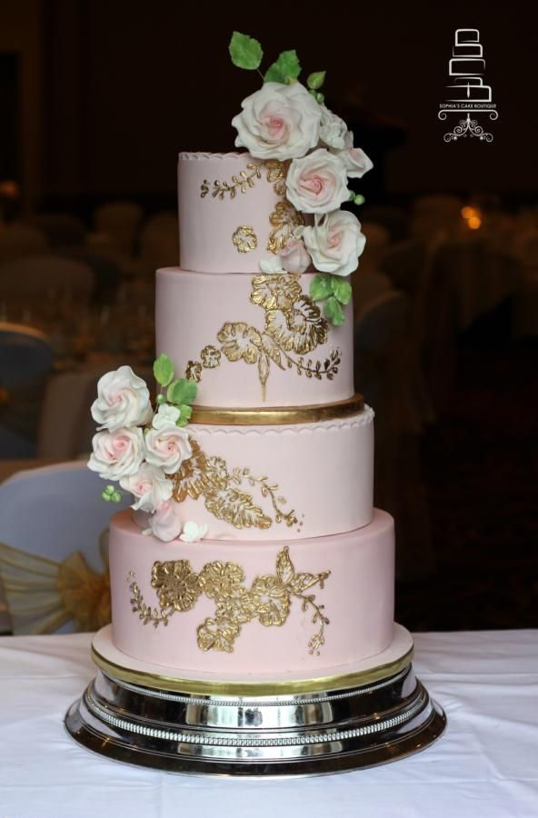 Blush Pink & Gold by Sophia's Cake Boutique