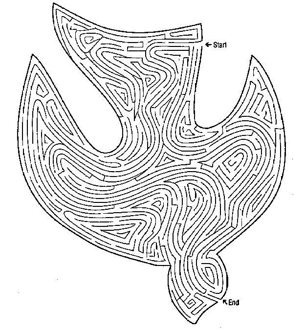 Duif doolhof (en andere doolhoven) // Dove Printable Maze