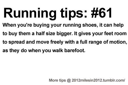 Running Tips: Size matters. Starting running or training for a marathon? Tips and help: Get more running tips and training adivce