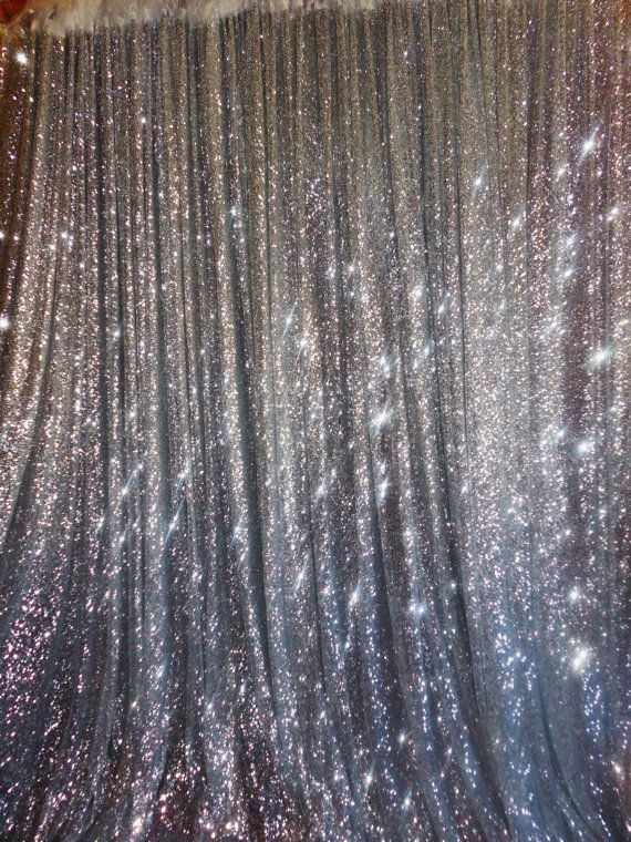 SALE 10 ft x 20 ft Sequin Silver Backdrop by DESIGNERSHINDIGS