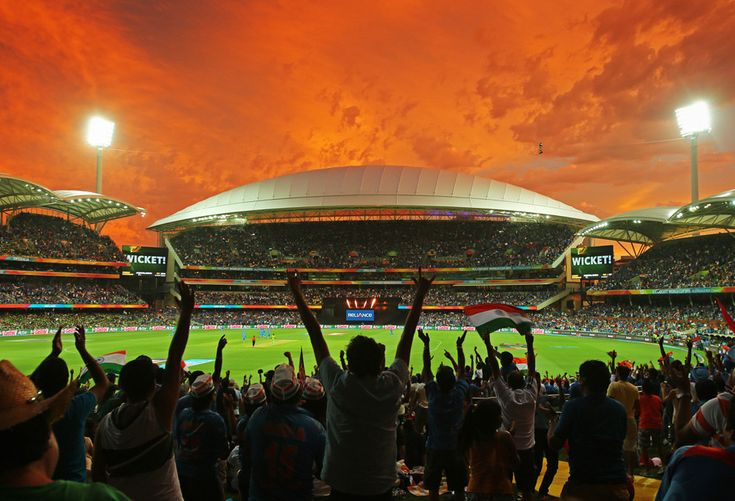 Finally, let's not forget this BATSHIT INSANE Adelaide sunset during the Cricket World Cup in February. Further proof that Australia's skies are the craziest! | 25 Times Australia's Weather Was Batshit Insane In 2015