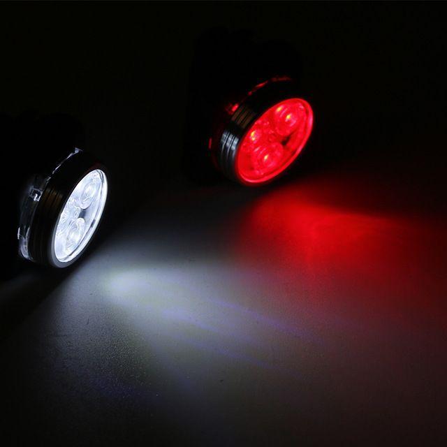 USB ricaricabile Della Bici Della Bicicletta Fanale Posteriore Fanale Posteriore MTB Equitazione Bicicletta 3 LED Posteriore Sedile Anteriore Della Lampada Della Luce Bycicle Luce Bianca/rosso