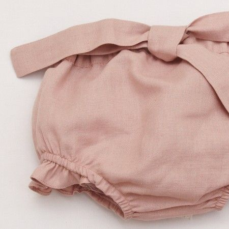 Baby Linen Bloomer - Vintage Pink Pepa Co