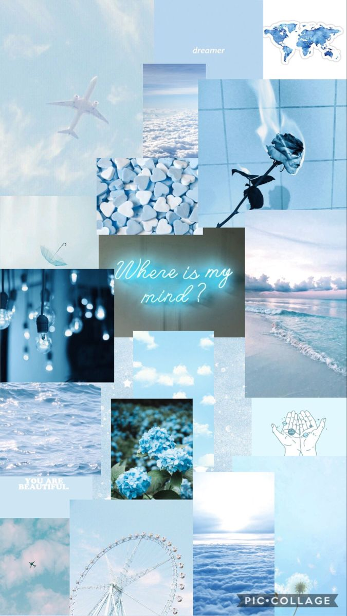 Wallpaper Blue Aesthetic Tumblr Baby Blue Aesthetic Cute Blue Wallpaper
