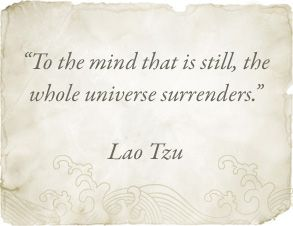 Lao Tzu.  Transcendental Meditation® specializes in stilling the mind in an easy enjoyable way—claim your universe :) https://www.facebook.com/TM.UK.Women/app_128953167177144