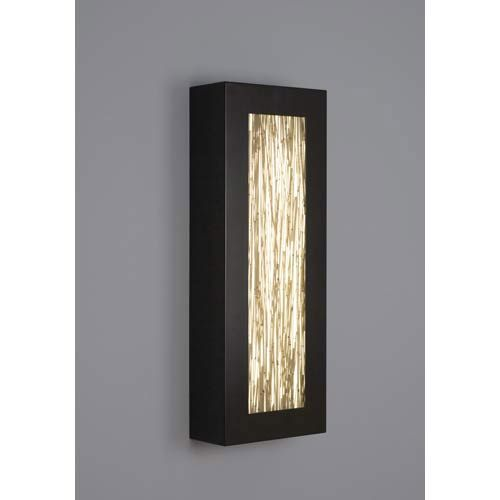 V II Rectangle Thatch Fluorescent ADA Wall Sconce