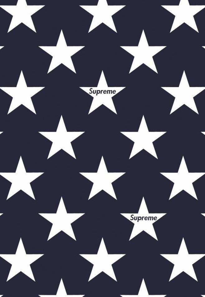 Star white navy supreme