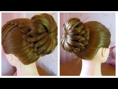 Tuto coiffure simple cheveux mi long/long ✨ Chignon tressé facile ✨ Coiffure tresse en noeuds - YouTube