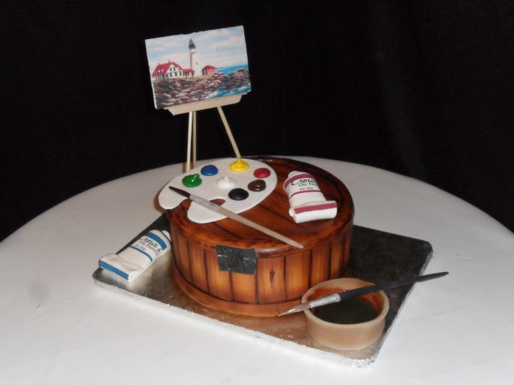 Art Gallery Birthday Cake : 36 Best images about Cake peinture on Pinterest Art ...