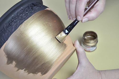 Pentart dekor: Antik kaspó készítése