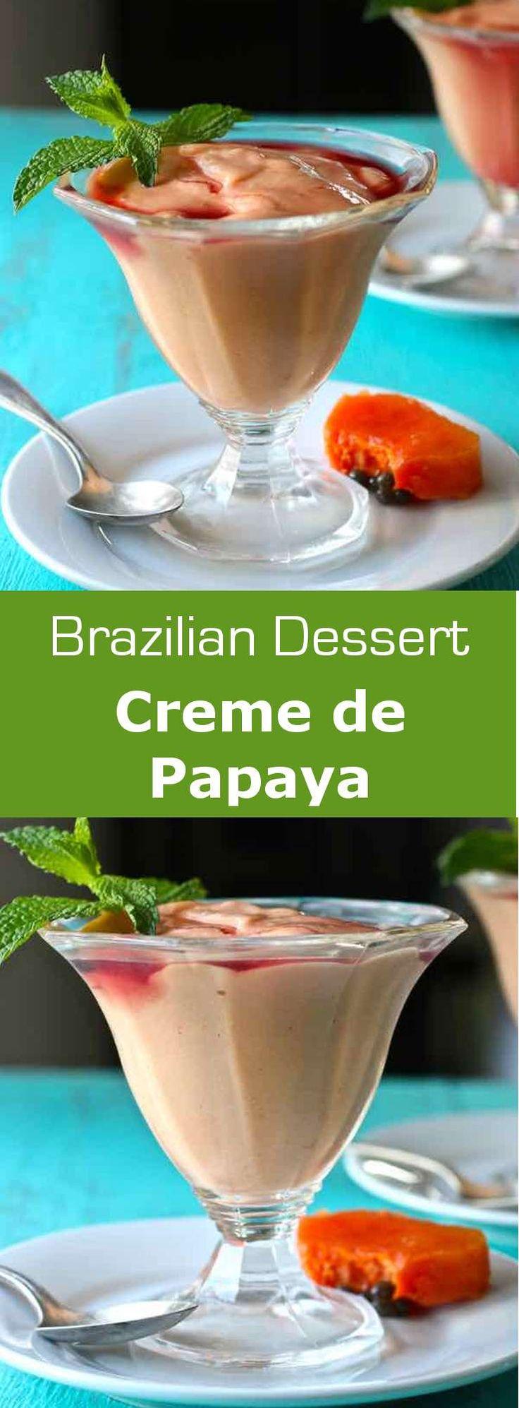 Creme de papaya is a very easy to make luscious Brazilian dessert that consists…