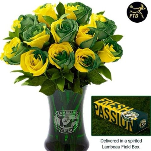 Packer flowers! For my Packer themed wedding, hahahaha...maybe not. I'll take some just for fun though!