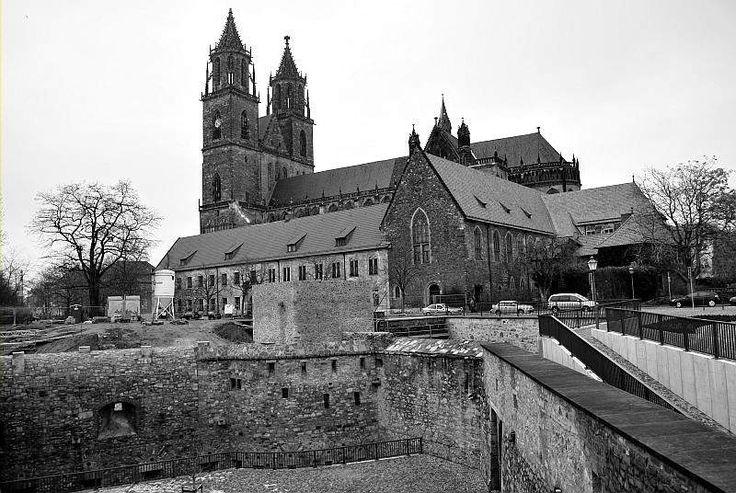 magdeburg dom | Magdeburger Dom und Bastion Cleve (Foto: Wieland Schulze)