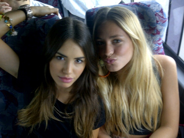 Lali Esposito Argentinian Actress i dont know who is the blonde? sorry
