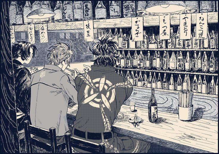 御手杵 蜻蛉切 日本号 #酒と飯と三名槍