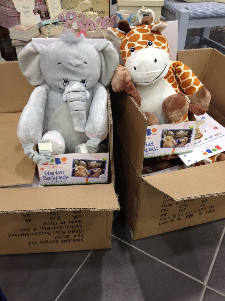 They've arrived! BoBo Buddies Backpacks #childrens #backpack #blankets