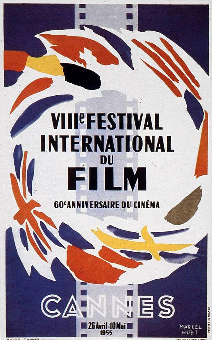 Festival de Cannes  1955  Poster  Marcel Huet: De Cannes, Poster ...