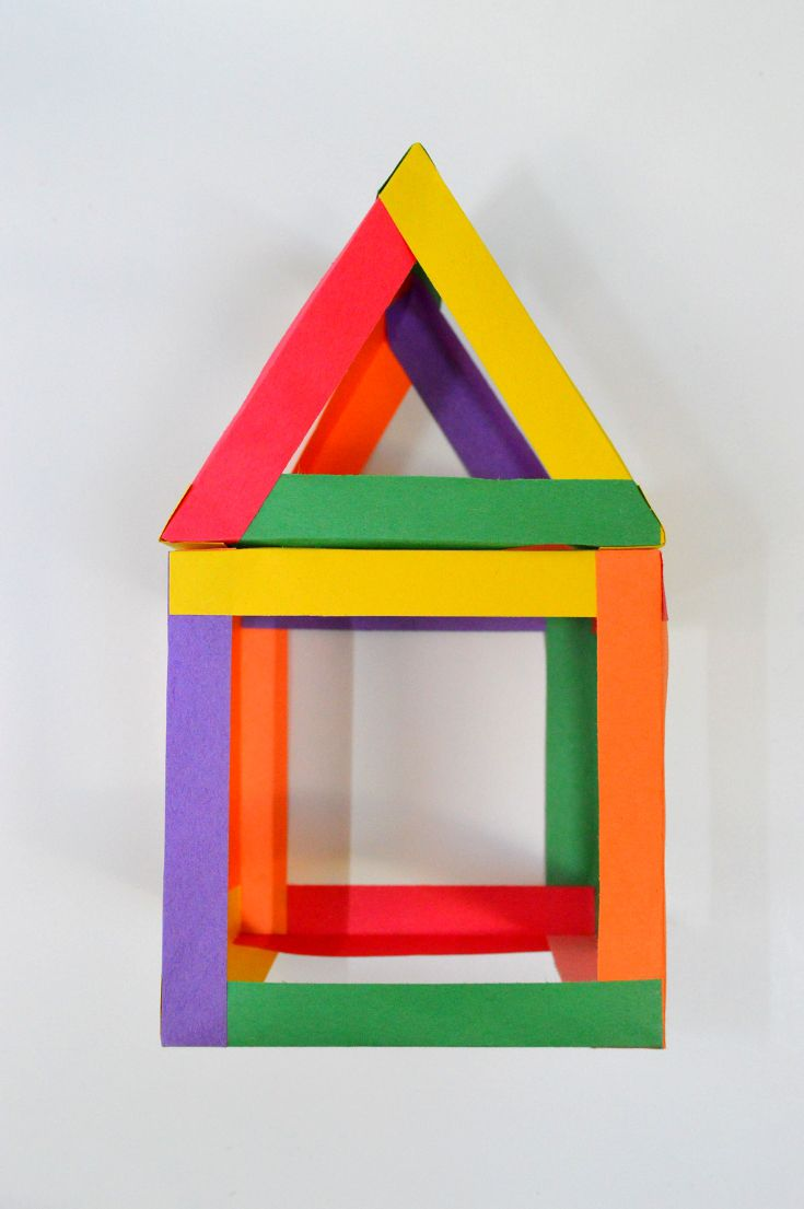 8 best make a house images on pinterest paper houses craft preschool shape activities jeuxipadfo Image collections