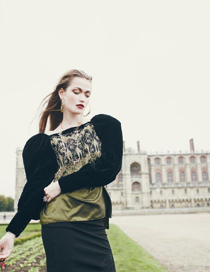Domaine national de Saint-Germain-en-Laye. Extrait du reportage de mode Royal blood de la photographe Camille Richez dans le magazine Jute de décembre 2015.