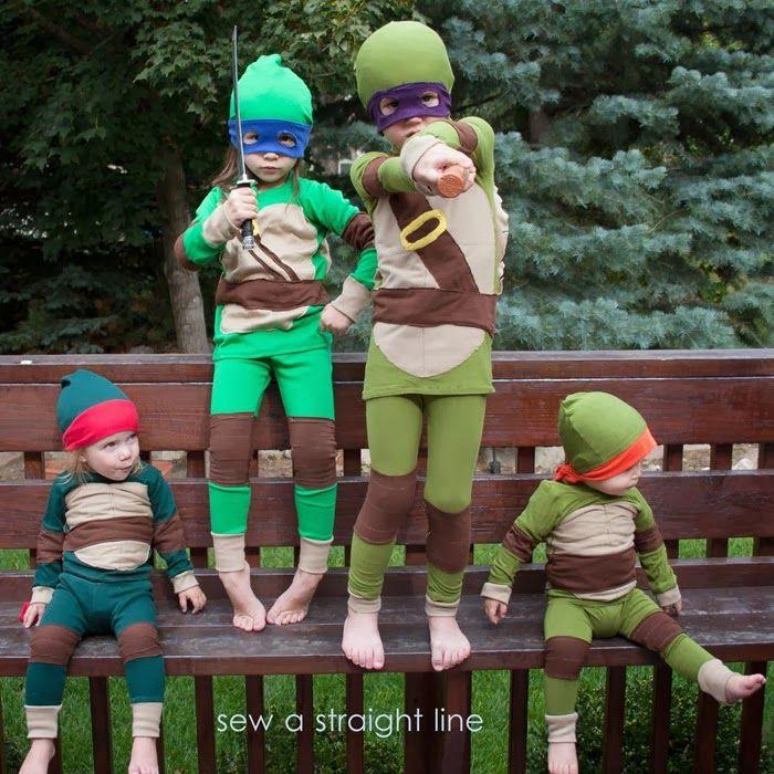 tmnt teenage mutant ninja turtles costume sew a straight line 2 - Teenage Mutant Ninja Turtles Halloween Costumes For Kids