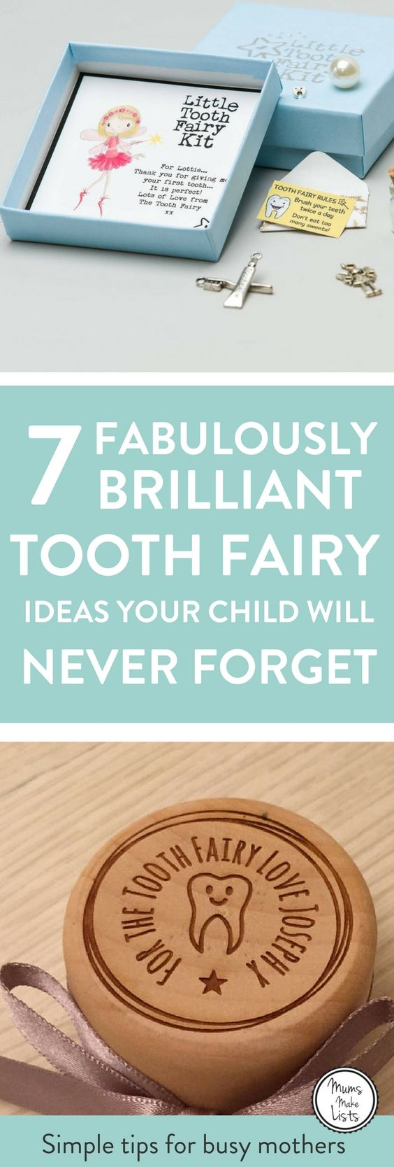 Here's some Tooth Fairy magic! A little curation of lovely ideas to celebrate the first visit from the Tooth Fairy, including letters - both DIY and personalised ideas you can buy - free printables and lovely tooth fairy keepsake boxes. Take a little peak