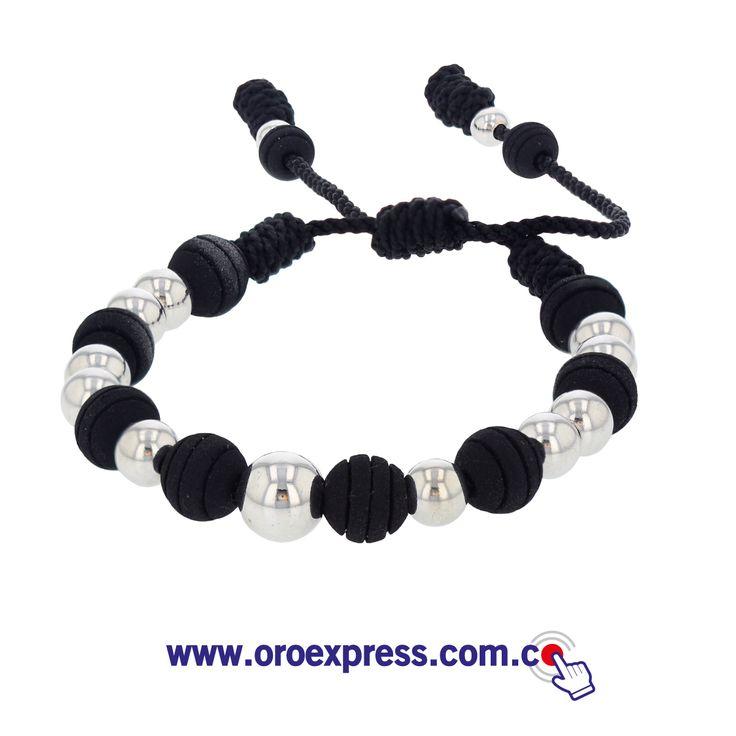 Pulsera neopreno y oro 18k. Solo en www.oroexpress.com.co WhatsApp 317 5435909
