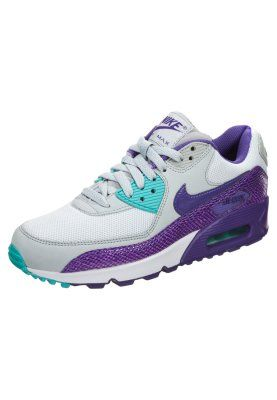 Femme Nike Sportswear AIR MAX 90 - Baskets basses - silver/purple/hyper grape violet: 140,00 € .