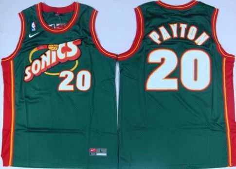 ... Stitched NBA Jersey Seattle Supersonics 20 Gary Payton 1995-96 Green  Swingman Jersey ... 9371807e0