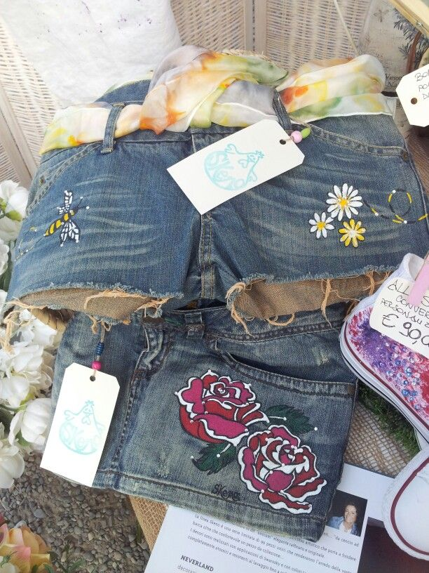 Handpainted jeans clothes by www.skeno.it