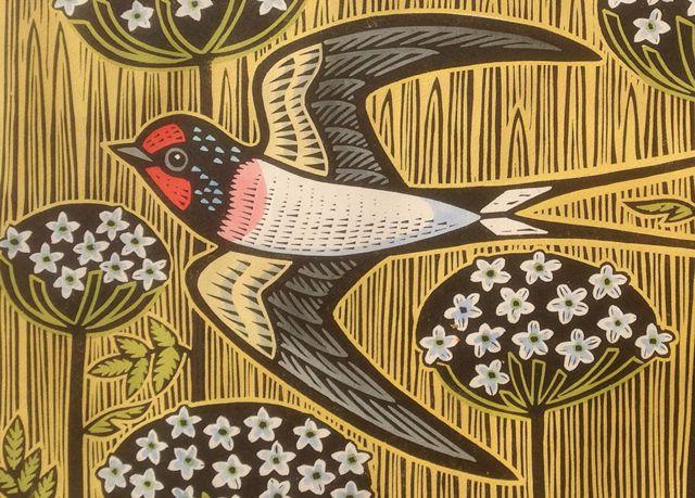 'Tsi-kuk' By Printmaker Gerard Hobson. Blank Art Cards By Green Pebble. www.greenpebble.co.uk