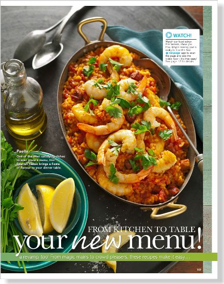 Paella. Clipped from Better Homes and Gardens using Netpage.