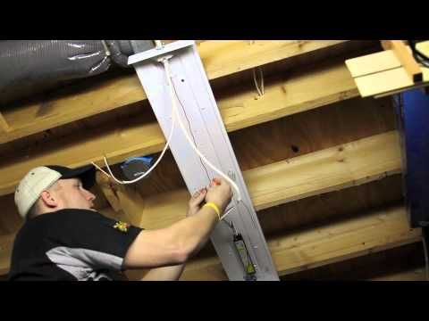 Installing Overhead T8 Light Fixtures - YouTube-If you are doing the Edelman fluorescent lighting system, you must watch this. Joe leaves some wiring stuff out.