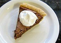 "The Best Creamy Chocolate Chess Pie: Chocolate Chess Pie  -----  <b><a href=""http://southernfood.about.com/od/Cakes-Pies-Desserts/ss/Chocolate-Chess-Pie.htm"">Large Photo of the Chocolate Chess Pie</a></b>"
