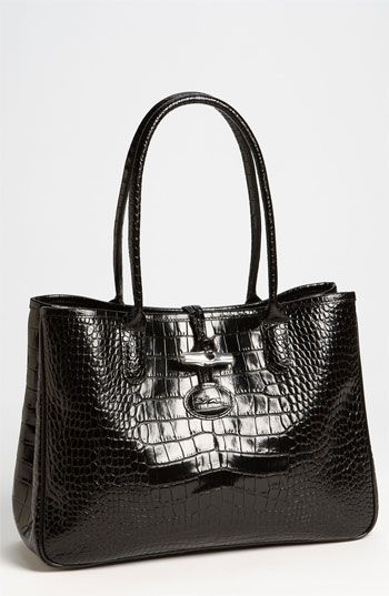 Longchamp 'Roseau Croco' Shoulder Tote available at #Nordstrom