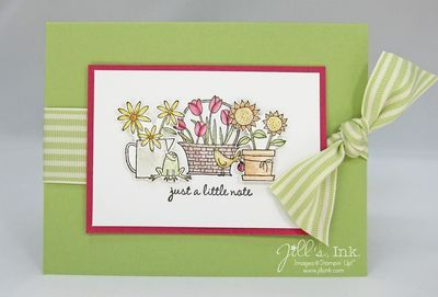 jillsink.typepad.com: Flowers Tre, Cards Flowers, Cards Ideas, Cards Quick, Seasons Cases, Cards Inspiration, Pots Flowers, Blossoms Hostess, Apples Blossoms