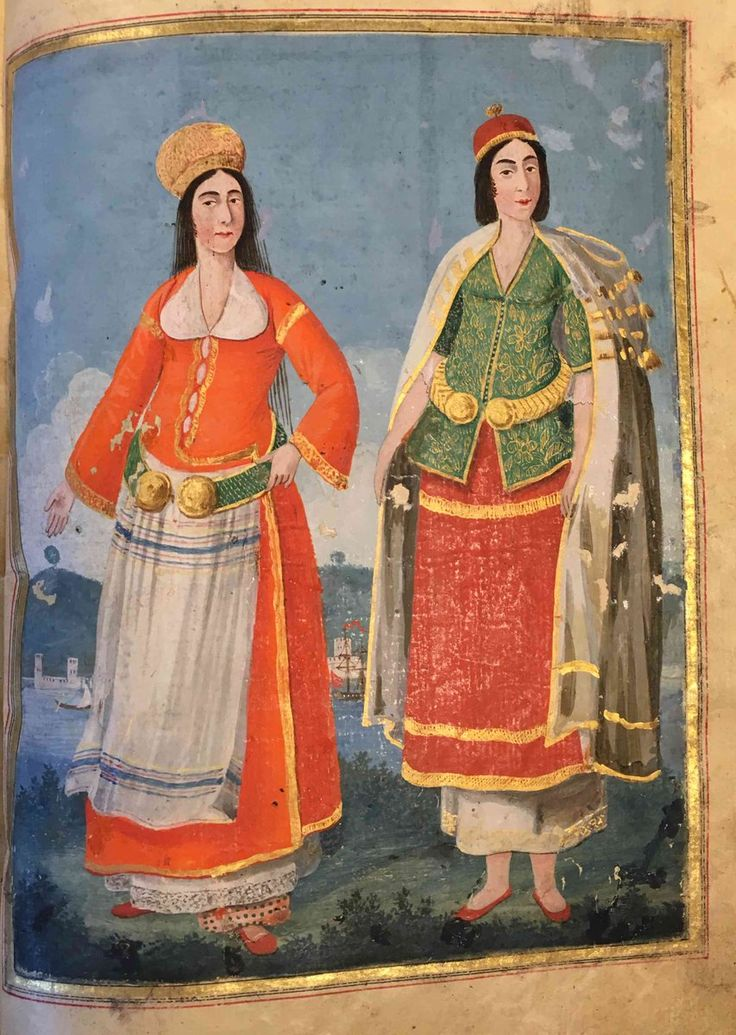 Women of Tunis and Persia in Istanbul at the end of the 18th century.