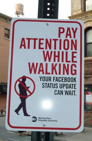 Pay Attention While Walking! #facebook