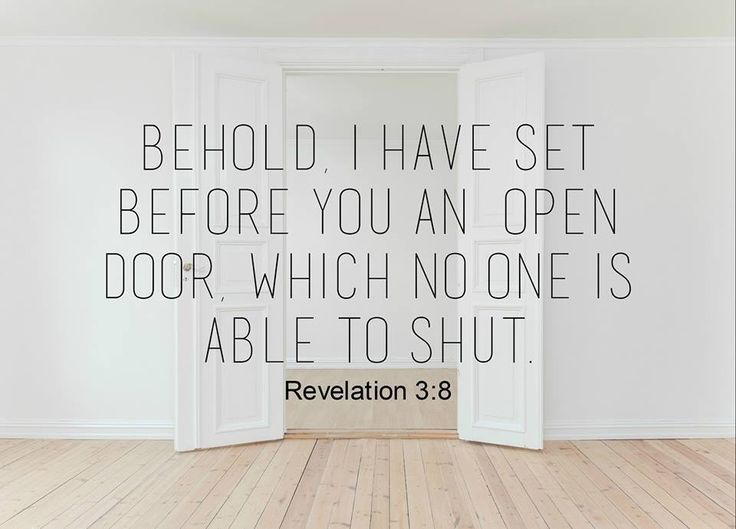 When God opens doors