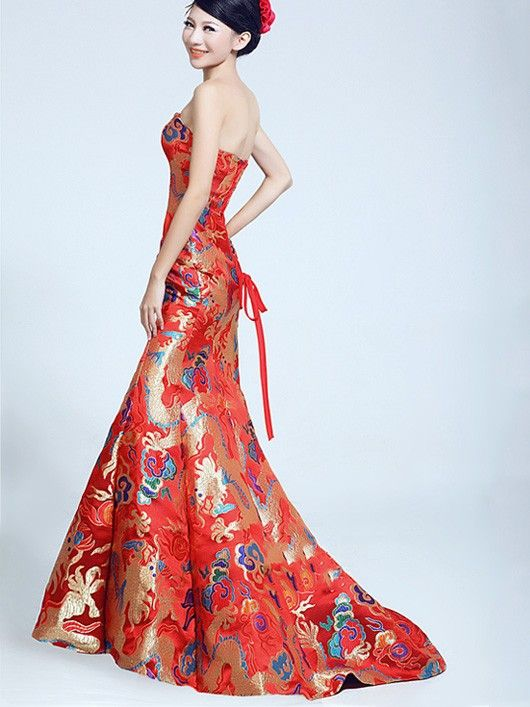 13 best images about chinese dress pattern on pinterest for Wedding dresses in china