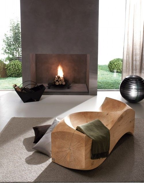 I would love an outdoor fireplace like this.